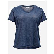 Modré basic tričko ONLY CARMAKOMA Rex - Dámské tričko
