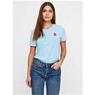 Modré tričko VERO MODA Francis - Dámské tričko