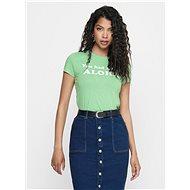 Zelené tričko s potiskem ONLY Clara - Dámské tričko