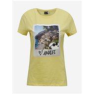 Žluté tričko s potiskem ONLY Peanuts - Dámské tričko