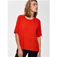 Red top with slits Selected Femme Wille - Women's Top