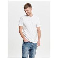 Bílé basic tričko ONLY & SONS Albert - Pánské tričko