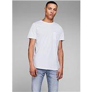 Bílé basic tričko s náprsní kapsou Jack & Jones - Pánské tričko