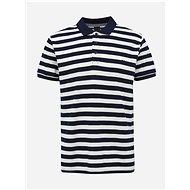 Men's White-Blue Striped Basic Polo Shirt ZOOT Lucas - Men's Shirt