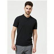 Černé basic polo tričko Selected Homme Haro - Pánské tričko