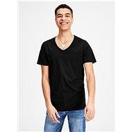 Černé basic tričko s véčkovým výstřihem Jack & Jones Basic - Pánské tričko