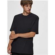 Černé basic tričko Selected Homme Malcolm - Pánské tričko