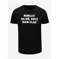 Černé pánské tričko s potiskem ZOOT Original Hlad M - Pánské tričko