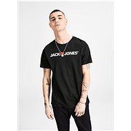 Černé tričko s potiskem & Jones - Pánské tričko