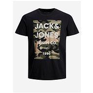 Černé tričko s potiskem Jack & Jones - Pánské tričko
