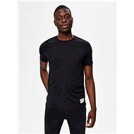 Černé tričko Selected Homme Ethan - Pánské tričko