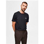 Černé tričko Selected Homme Lenox - Pánské tričko