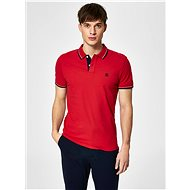 Červené polo tričko s výšivkou Selected Homme New Season - Pánské tričko