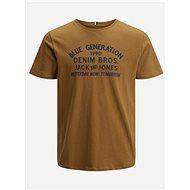 Hnědé tričko Jack & Jones Orstandard - Pánské tričko