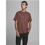Hnědé tričko Jack & Jones Prbladean - Pánské tričko