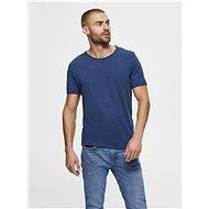 Modré basic tričko Selected Homme Morgan - Pánské tričko