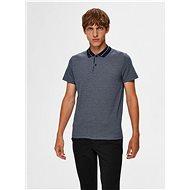 Modré polo tričko Selected Homme Avenue - Pánské tričko