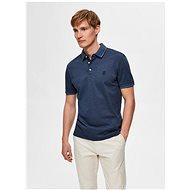 Modré polo tričko Selected Homme Twist - Pánské tričko
