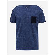 Modré tričko Jack & Jones Emix - Pánské tričko
