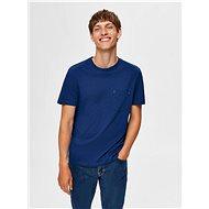 Modré tričko Selected Homme Jared - Pánské tričko