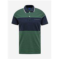 Modro-zelené polo tričko Jack & Jones Pro - Pánské tričko