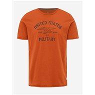 Oranžové tričko s potiskem Jack & Jones Greg M - Pánské tričko