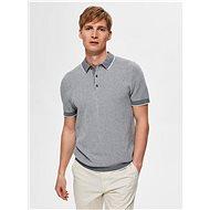 Šedé polo tričko Selected Homme - Pánské tričko