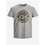 Šedé tričko s potiskem Jack & Jones - Pánské tričko