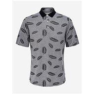 Šedé vzorované polo tričko ONLY & SONS - Pánské tričko