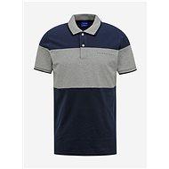 Šedo-modré polo tričko Jack & Jones Pro S - Pánské tričko