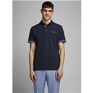Tmavě modré polo tričko Jack & Jones James - Pánské tričko