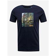 Tmavě modré tričko Jack & Jones Barista - Pánské tričko