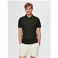 Tmavě zelené polo tričko Selected Homme Twist - Pánské tričko