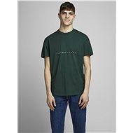 Tmavě zelené tričko Jack & Jones Orcopenhagen - Pánské tričko