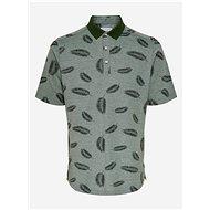 Zelené vzorované polo tričko ONLY & SONS - Pánské tričko