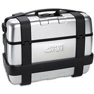 GIVI TRK33N Trekker Silver Topcase 33L with Black Aluminium Lid (Monokey) - Motorcycle Case