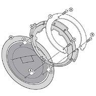 KAPPA BF08K tanklock pro Ducati - Montážní sada pro tankvak