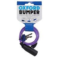 OXFORD zámek Bumper Cable Lock, fialový 60cm - Zámek na motorku