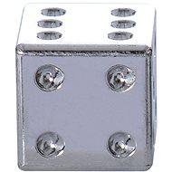 OXFORD kovové čepičky ventilků Lucky Dice, (stříbrná) - Čepičky na ventilky