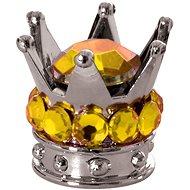 OXFORD kovové čepičky ventilků Crown, (stříbrná/zlatá) - Čepičky na ventilky