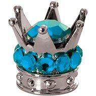 OXFORD kovové čepičky ventilků Crown, (stříbrná/modrá) - Čepičky na ventilky