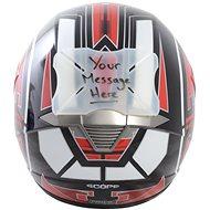 OXFORD protektor laku přilby Helmet Bumper Message, (možnost naspsání vlastního textu) - Protektor