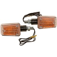 OXFORD blinkr Mini krátký, (oranžové sklíčko, plášť imitace carbon, pár) - Blinkry na motorku