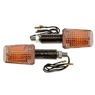 OXFORD blinkr Mini dlouhý, (oranžové sklíčko, plášť imitace carbon, pár) - Blinkry na motorku
