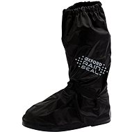 OXFORD RAINSEAL over boots with reflective panels and non-slip sole (black, size L) - Sleeves