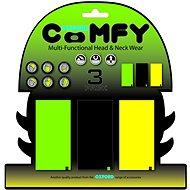 OXFORD nákrčníky Comfy jednobarevné, (sada zelený/černý/žlutý, 1ks od barvy) - Nákrčník