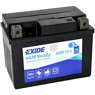 EXIDE BIKE Factory Sealed 3Ah, 12V, AGM12-4 (YTX4L-BS) - Motobaterie