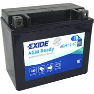 EXIDE BIKE Factory Sealed 10Ah, 12V, AGM12-10 (YTX12-BS)  - motobaterie