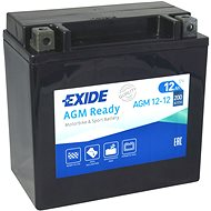 EXIDE BIKE Factory Sealed 12Ah, 12V, AGM12-12 (YTX14-BS)  - motobaterie