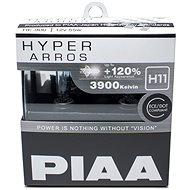 PIAA Hyper Arros 3900K H11 - o 120 procent vyšší svítivost, zvýšený jas - Autožárovka